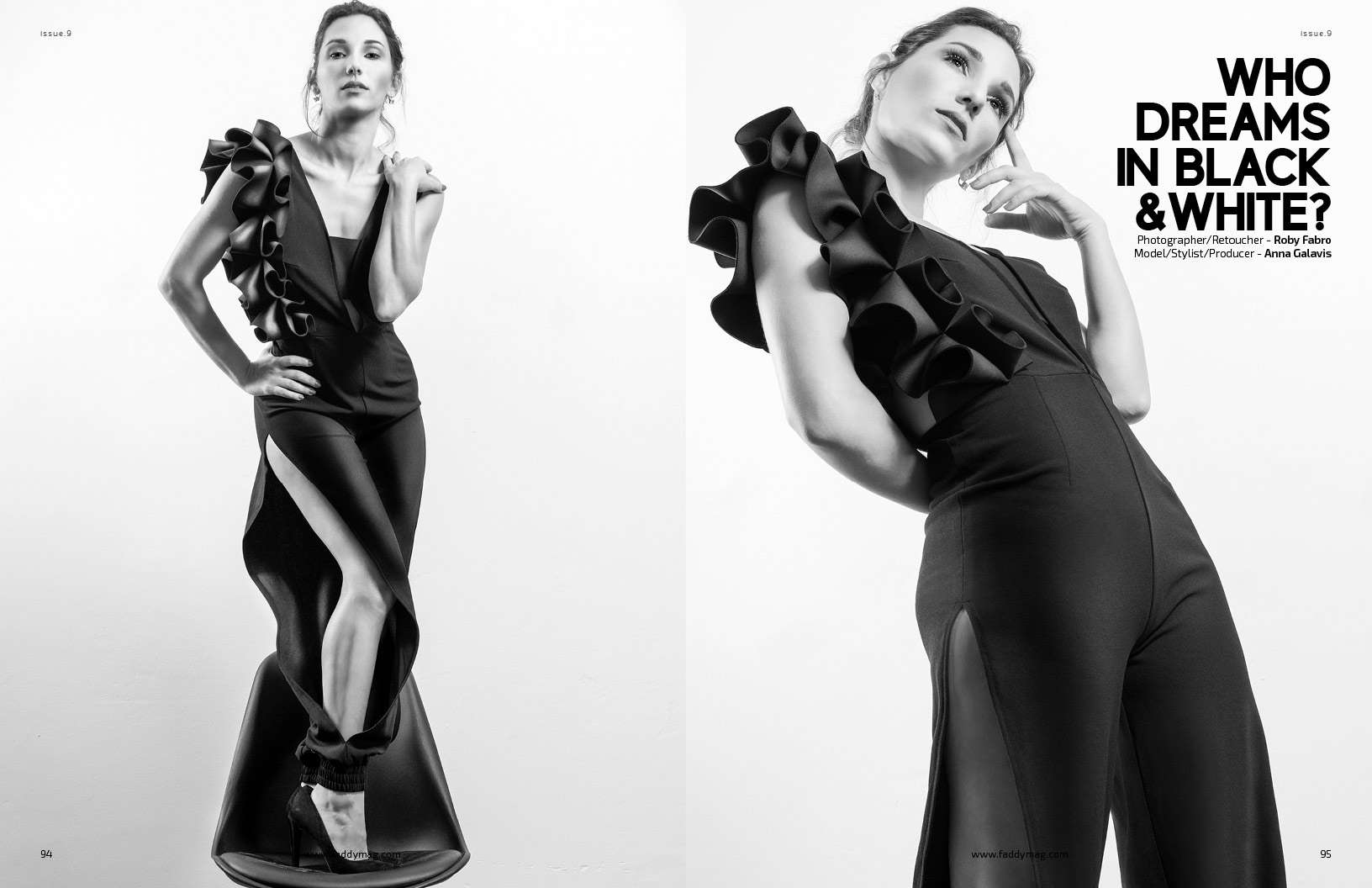 Faddy magazine editorial | Jumpsuit by Gussy Lopez