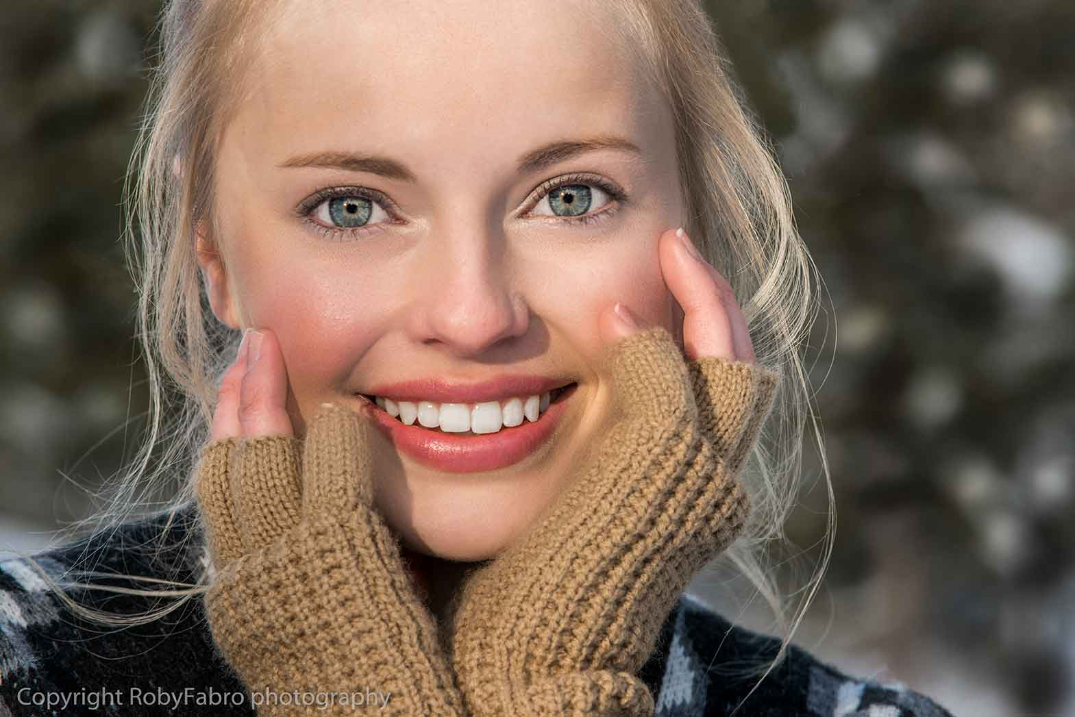 Lifestyle photography, close up of young woman. Breckenridge, Colorado