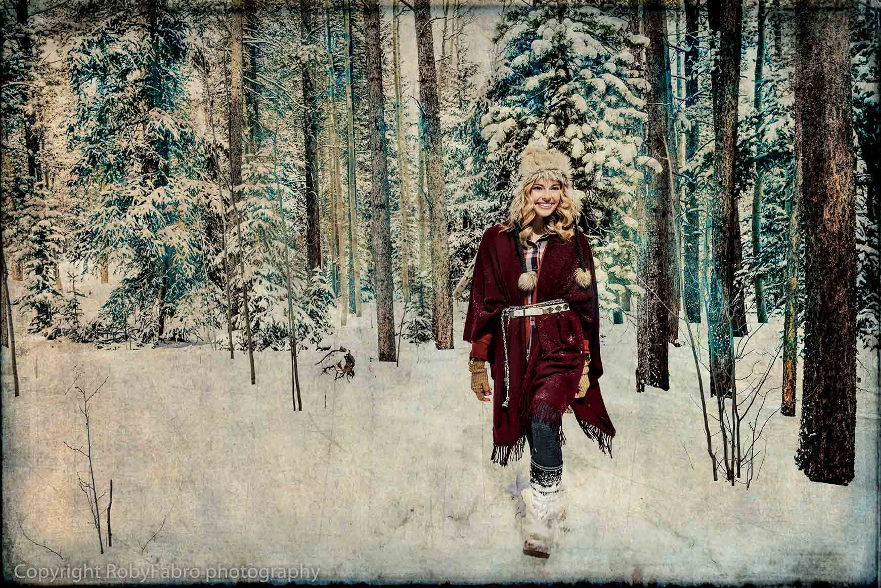 Walking  in the wood. Breckenridge, Colorado.  Lifestyle photography