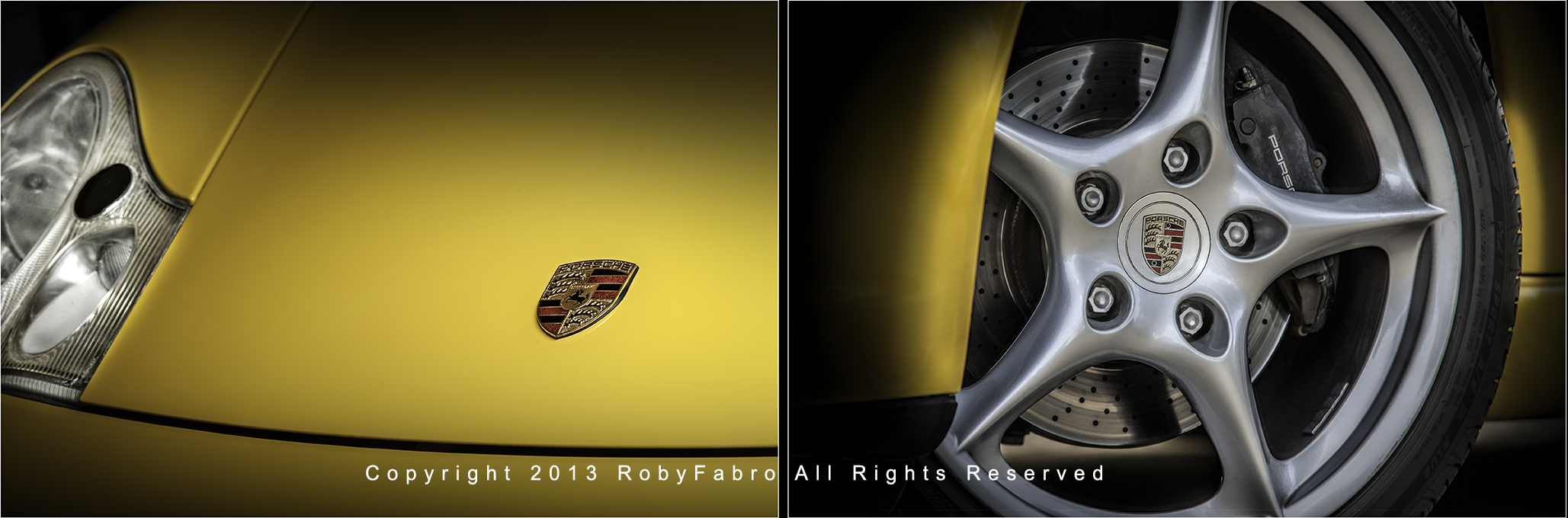 Porsche-Carrera-Front-Logo-and-spokes. Boston automotive photographer | RobyFabro