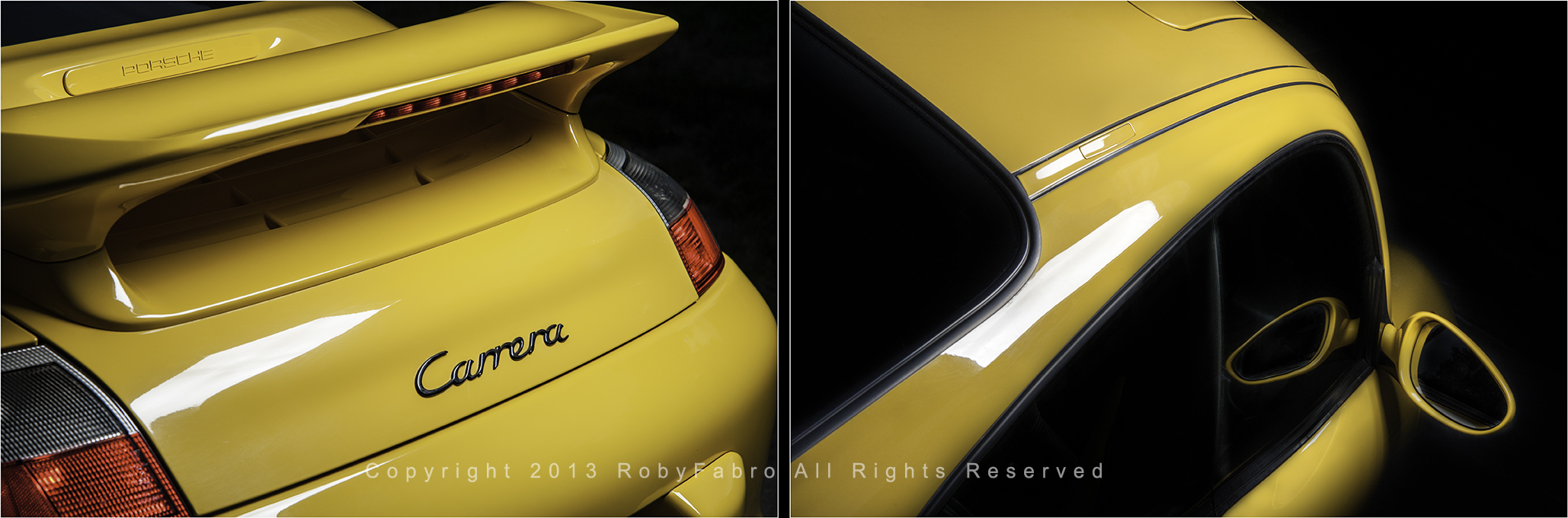 Porsche-Carrera-rear-and-side-view. Best Boston automotive photographers | RobyFabro