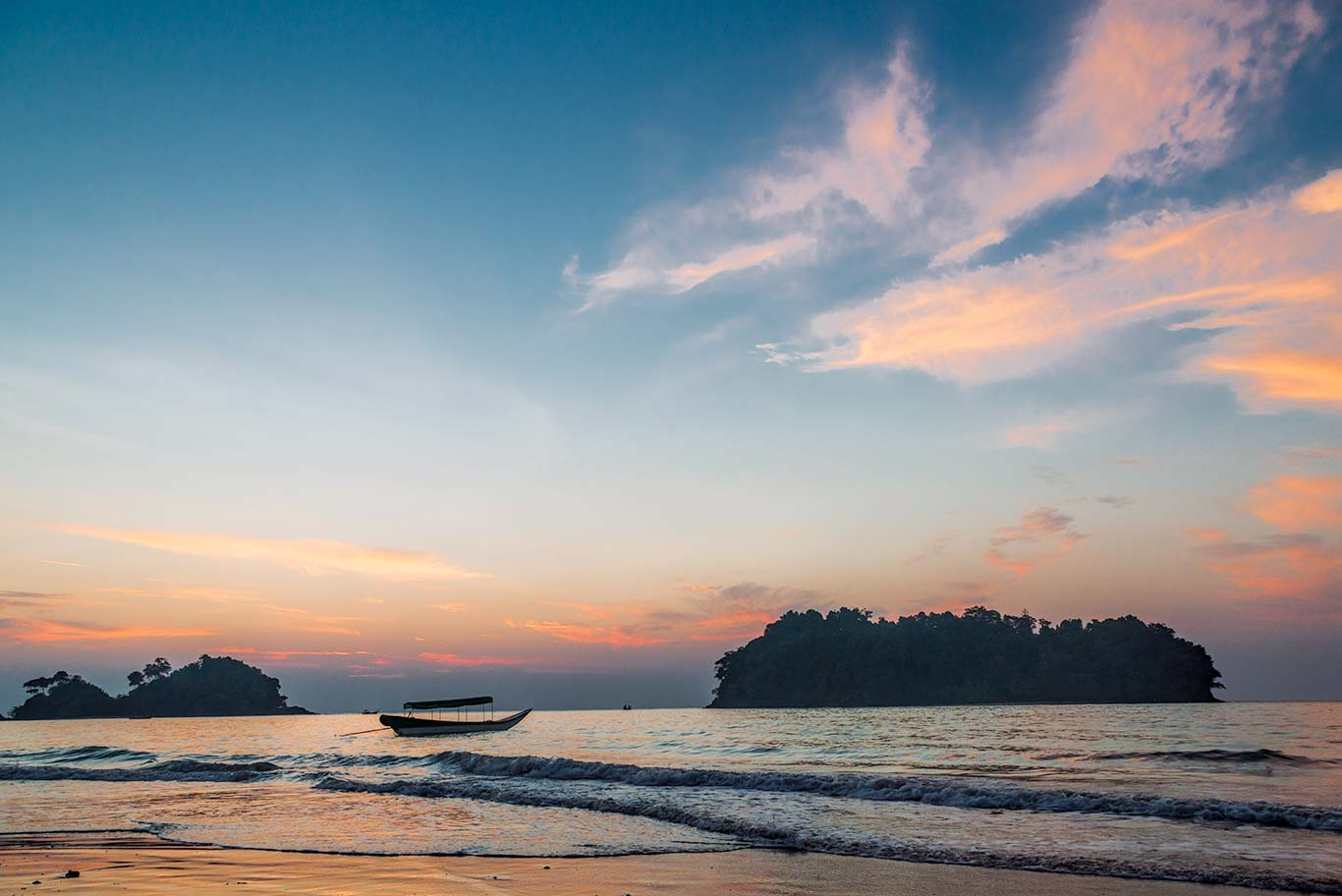 Thailand, Koh Phra Thong, Sunset on the Beach